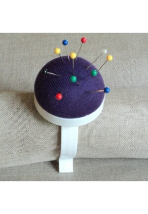 porte pelote épingles bleu avec clip, Prym, bracelet, pique épingle poignet