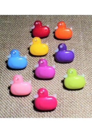 Bouton enfant canard 14mm, rouge, bleu, jaune ,fuchsia, orange, violet, rose, vert anis,