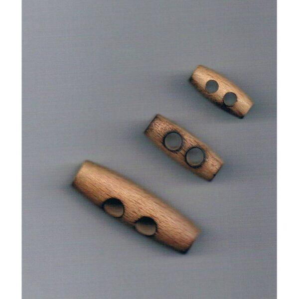 Bouton en bois bûchette 20-25-40mm pour kabig 2-trous