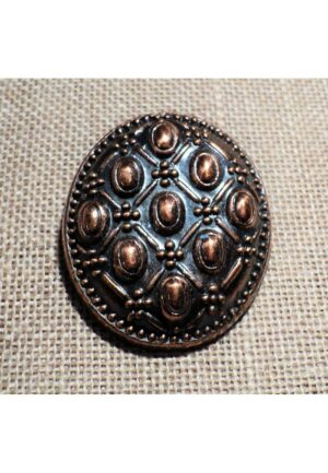 Bouton bronze médiéval 30mm métal avec un motif Scandinave