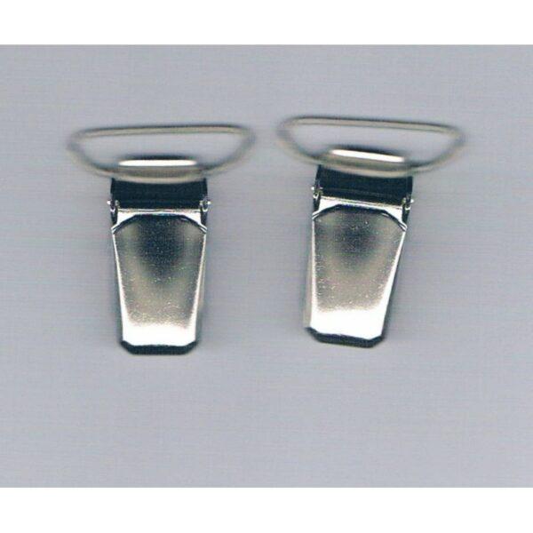Clips pinces bretelles 20 mm (2) argenté Koh i Noor