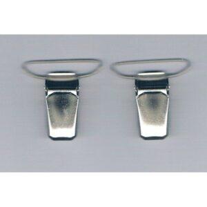 Clips pinces bretelles 30 mm (2) argenté Koh i Noor