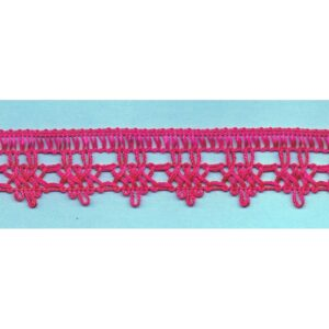 Dentelle crochet FUCHSIA 30mm, galon frange