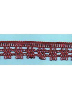 Dentelle crochet BORDEAUX 30mm, galon frange