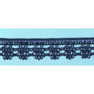 Dentelle crochet MARINE 30mm, galon frange