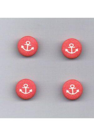 Bouton ancre 12mm rouge avec ancre blanc (4)