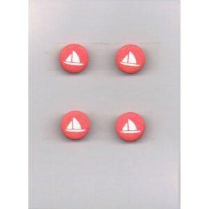 Bouton petit voilier rouge 12mm (4)