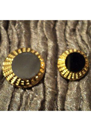 Bouton perle de jais noir 13mm / 18 mm