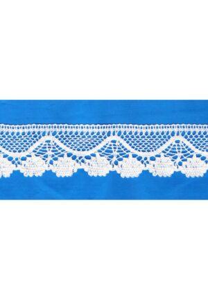 Dentelle crochet BLANC 50mm, 100% coton