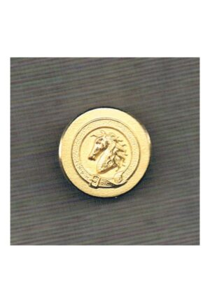 Bouton métal cheval 22mm doré