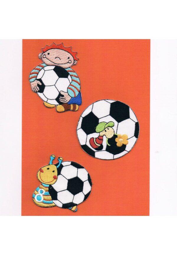 Ecussons Thermocollants 3 pièces (le gardien de but et le foot)
