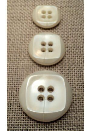 Bouton blanc cassé 15mm/18mm/23mm 4-trous
