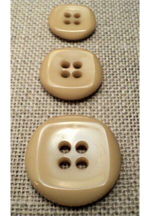 Bouton beige 15mm/18mm/23mm 4-trous