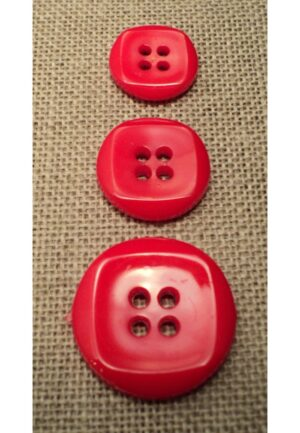 Bouton rouge 15mm/18mm/23mm 4-trous