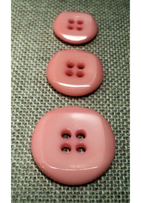 Bouton rose bonbon 15mm/18mm/23mm 4-trous