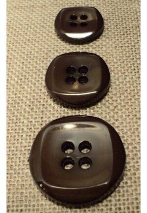 Bouton marron 15mm/18mm/23mm 4-trous