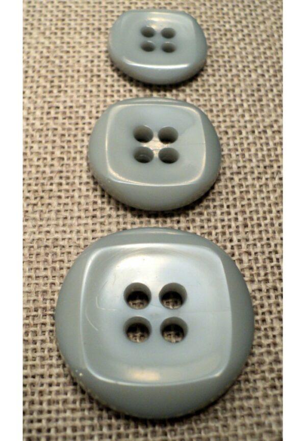 Bouton gris 15mm/18mm/23mm 4-trous