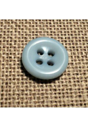 Bouton bleu pâle 11mm 4-trous Bébé, chemise, button down