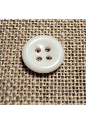 Bouton blanc 11mm 4-trous Bouton Bébé, chemise, button down