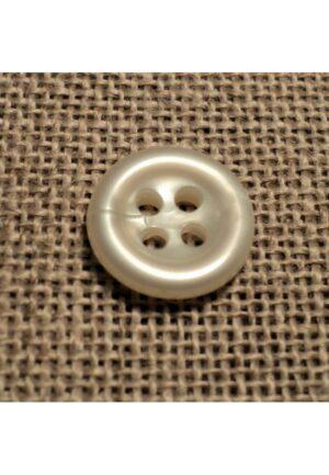 Bouton blanc cassé 11mm 4-trous Bouton Bébé, chemise, button down