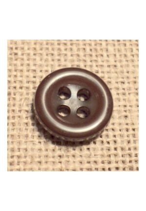 Bouton marron 11mm 4-trous Bouton Bébé, chemise, button down