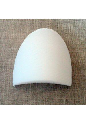 Paire d'épaulettes droites recouvertes blanches petite, modèle basique