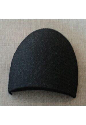 Paire d'épaulettes droites recouvertes noires petite, modèle basique