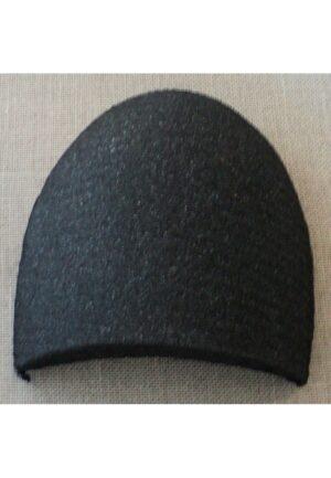 Paire d'épaulettes droites Large recouvertes noires, modèle basique