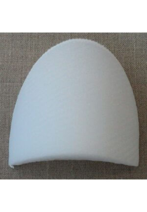 Paire d'épaulettes droites Large recouvertes blanches, modèle basique