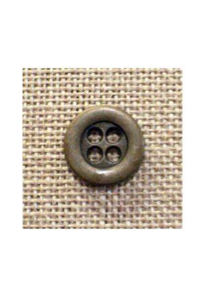 Bouton jeans métal bronze 12mm 4-trous, bouton chemise, button down