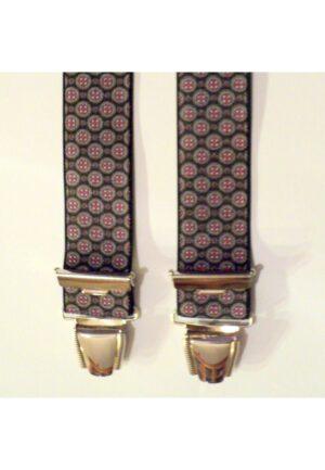 Bretelles hommes fantaisie Grande Taille, 120 cm, à pinces clips XL- XXL, noir