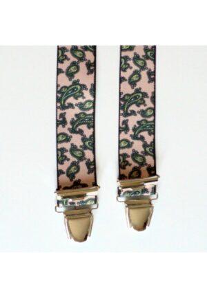 Bretelles hommes fantaisie Grande Taille, 120 cm, à pinces clips XL- XXL, beige cachmire