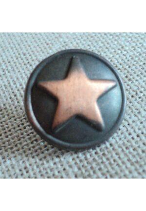 Bouton jeans métal bronze étoile 18mm