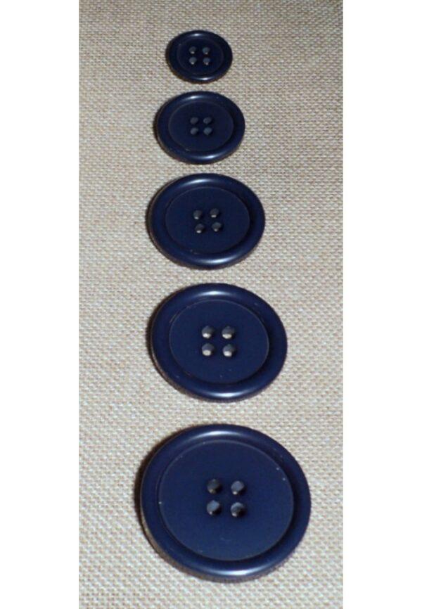Bouton Caban Marin 4-trous bleu marine 18mm/23mm/28mm/31mm/34mm