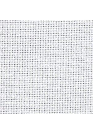 Toile Aïda blanc, 4.4 pts, 77 cm vendu au mètre