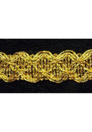 Galon doré 25mm passementerie fantaisie médiéval