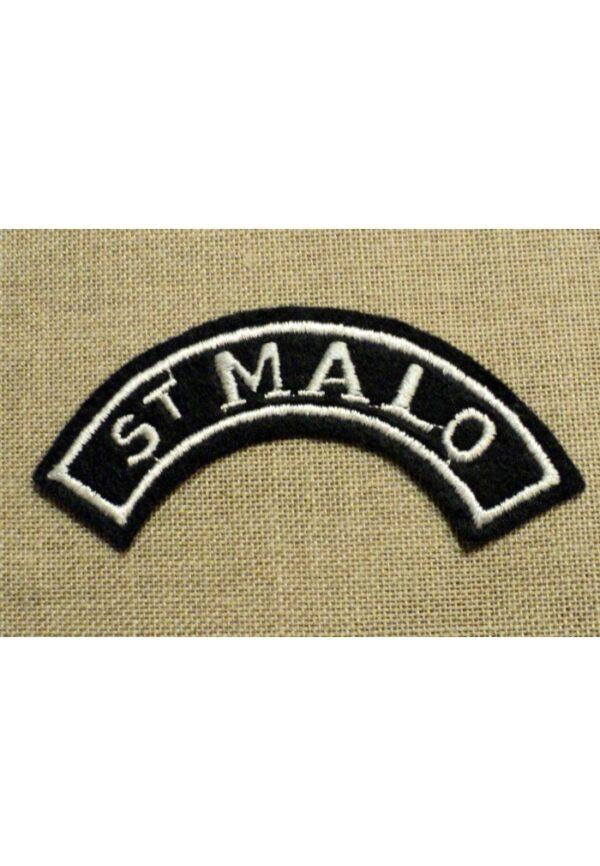 Ecusson brodé Saint Malo à coudre