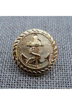 Bouton Caban Marin doré avec ancre 18mm pour veste officier et veste militaire