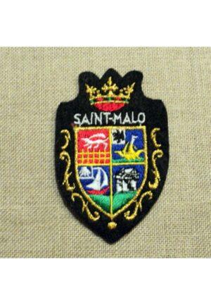 Ecusson brodé Saint Malo à coudre couronne blason, 35 ille et vilaine