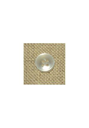 Bouton chemise 11mm blanc nacré 4-trous Petit bouton button down
