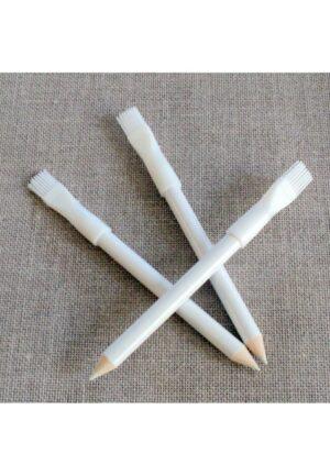 Crayon craie à marquer et brosse, couleur blanc
