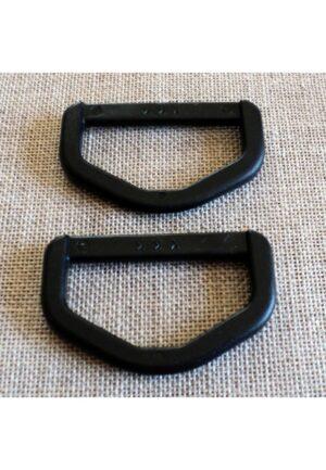 Boucle anneau D, 2 pièces, 40mm, noir, Attache sangle, Attache sac