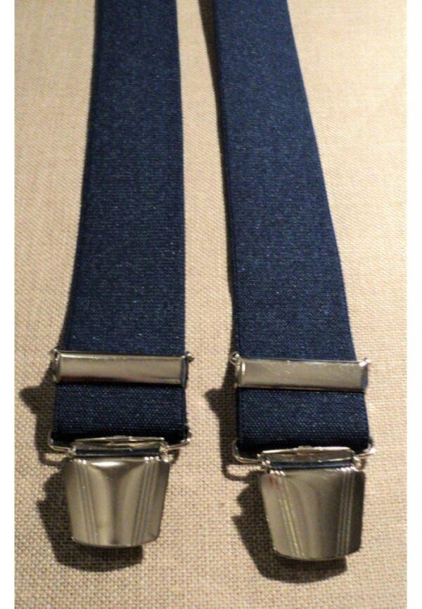 Bretelles hommes bleu marine Grande Taille, 150 cm, à pinces clips XL- XXL, XXXL, XXXXL, 3XL, 4XL, 5XL