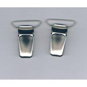 Clips pinces bretelles 18mm (2) argenté métal