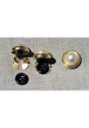 Cache bouton chemise doré 18mm, métal, couvre bouton, clips bouton, bouton manchette
