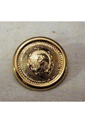 Bouton métal cheval 20mm doré, la tête à cheval avec le fer à cheval, bouton d'équestre bouton à queue