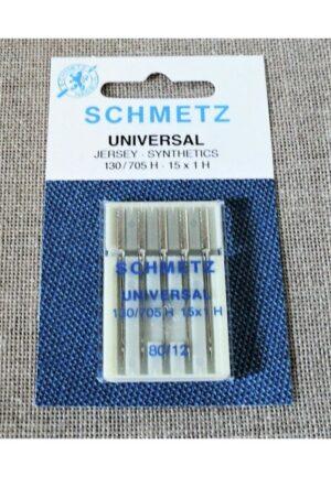 Schmetz Aiguilles nr.80 universal pour la machine à coudre STANDARD, 130/705H