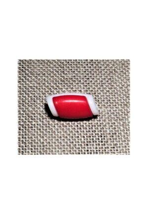 Bouton buchette mini rouge 15mm, kabig, gilet, vest pour les enfants et les bébés