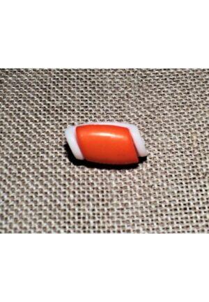 Bouton buchette mini orange 15mm, kabig, gilet, vest pour les enfants et les bébés