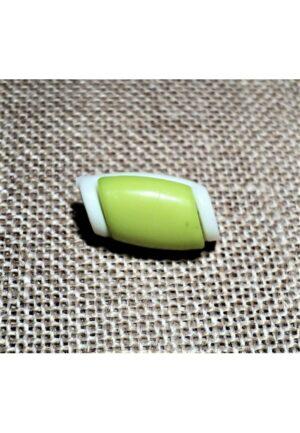 Bouton buchette mini vert anis 15mm, kabig, gilet, vest pour les enfants et les bébés